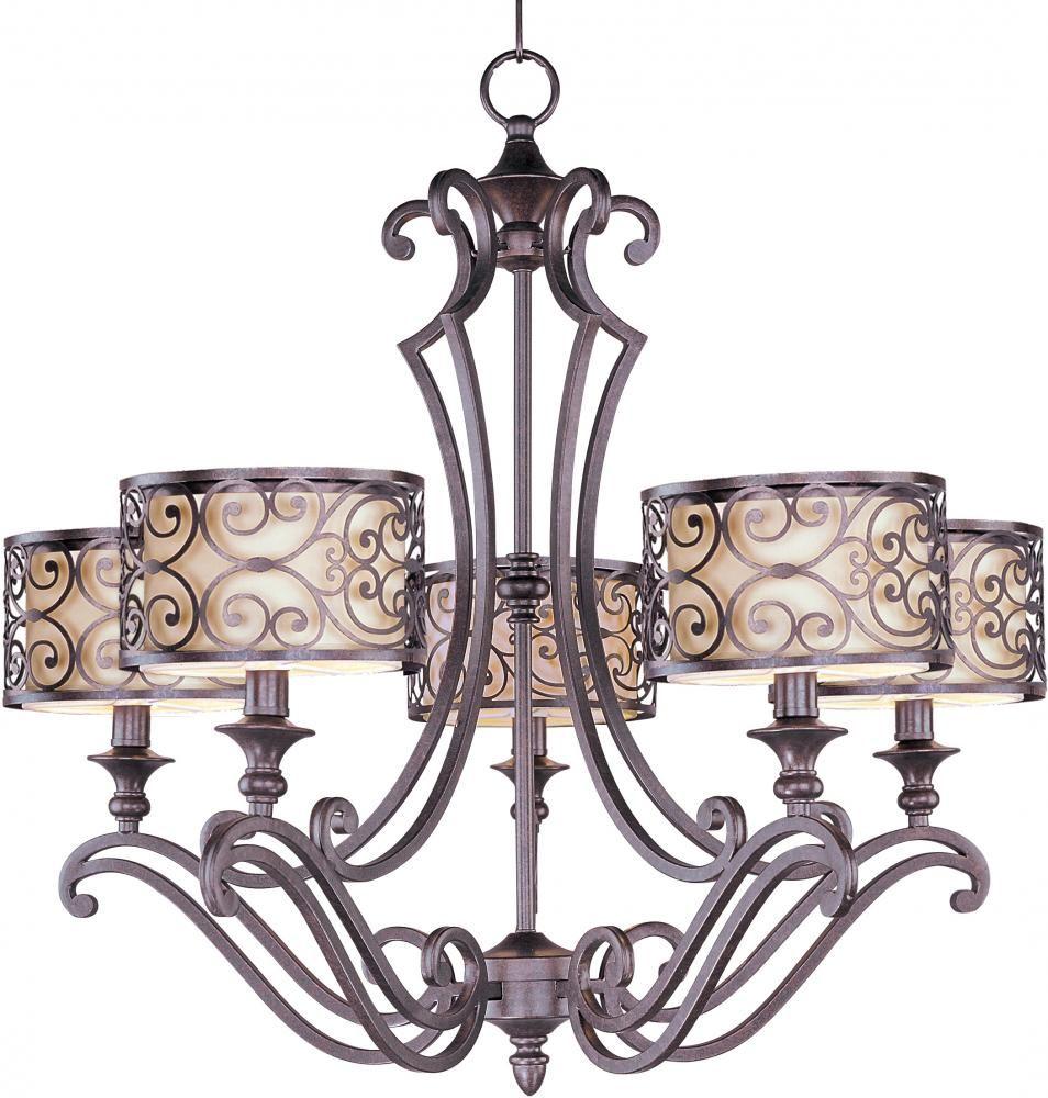 Lighting specialists in midvale utah united states maxim 21155whub five light bronze drum shade chandelier mondrian umber bronze