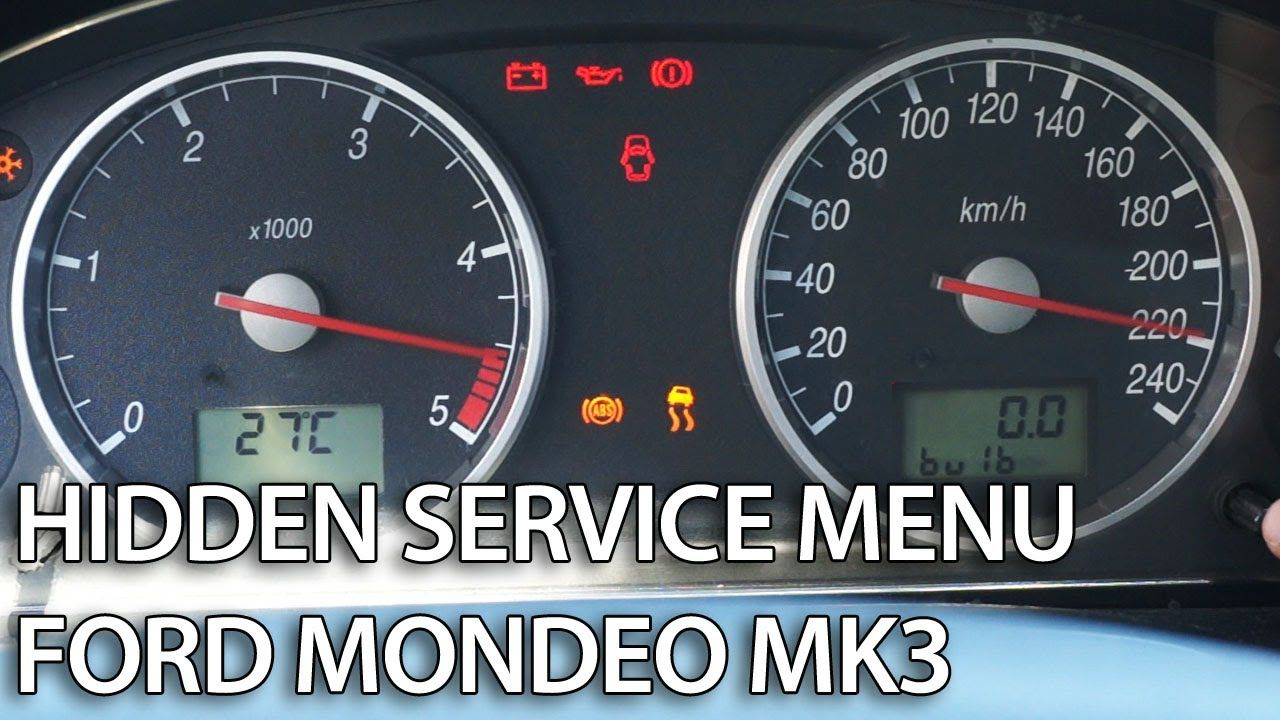 How to enter hidden menu in #Ford #Mondeo MK3 (service mode, gauges
