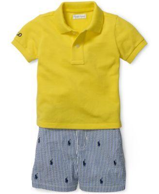 117ca7ad6f46e Ralph Lauren Baby Boys  Polo Shirt   Striped Shorts Set - Sets - Kids   Baby  - Macy s