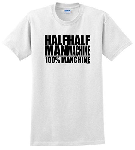 Half Man Half Machine 100% Manchine T-Shirt XL White ThisWear http://www.amazon.com/dp/B00CO4IVLU/ref=cm_sw_r_pi_dp_byztub1FNG7ES