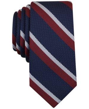 0f1e8b639fa2 Bar Iii Men's Denton Stripe Slim Tie, Only at Macy's - Red ...