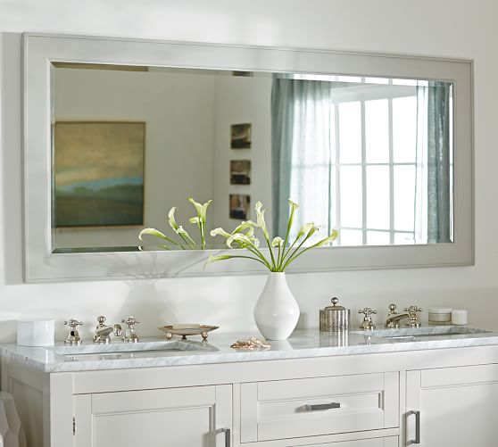Classic Double Wide Fixed Mirror Decor Mirror Large Bathrooms