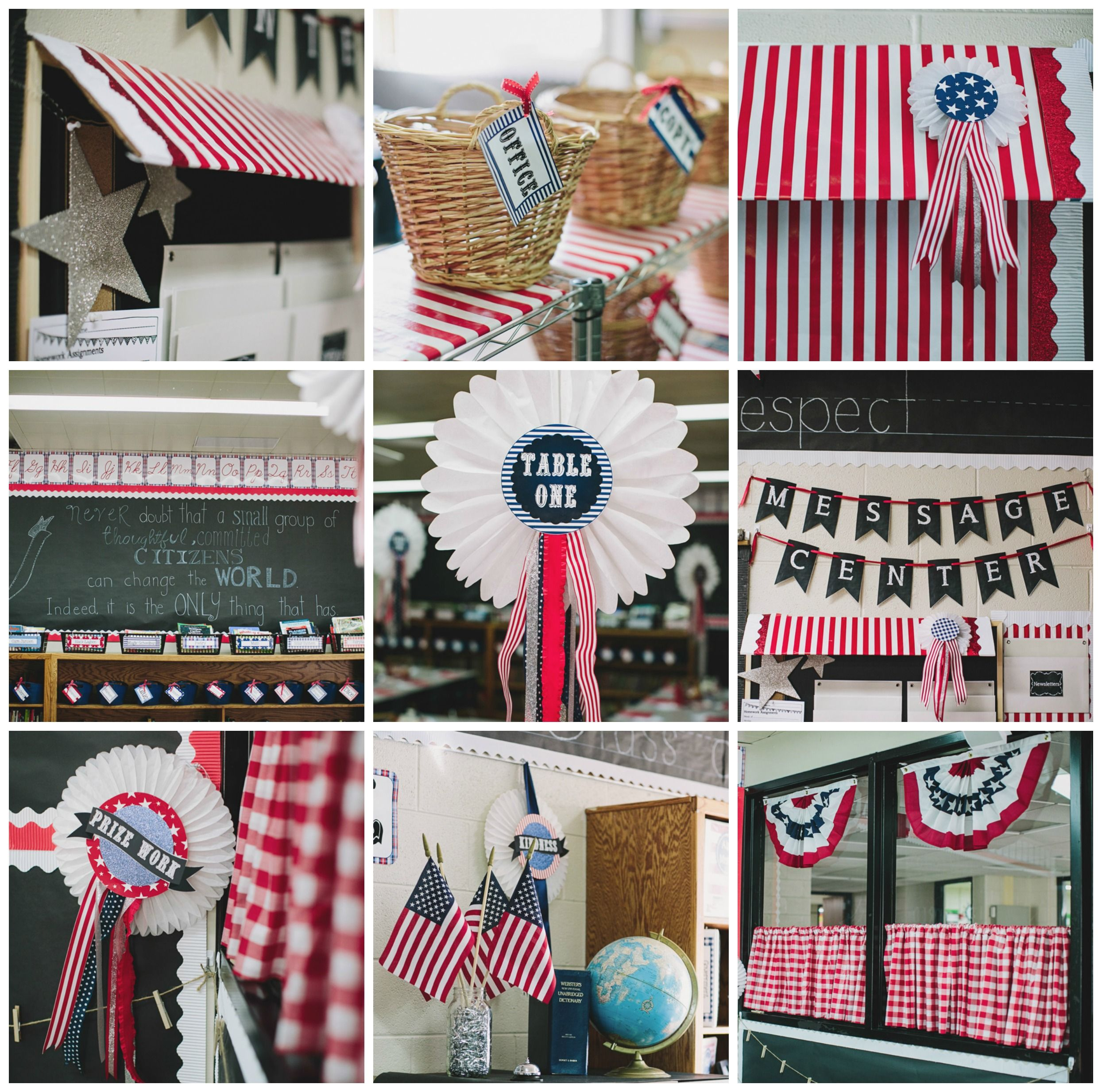 Americana Classroom Decor : County fair americana red white blue classroom theme and