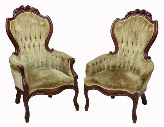 Mobili Vittoriani ~ Victorian style arm chairs : lot 330 reupholstering pinterest