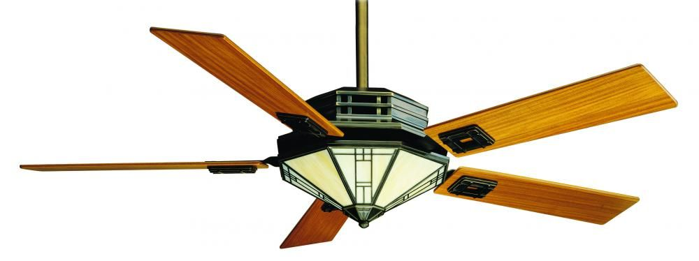 The Mission Style Ceiling Fan By Casablanca Has A