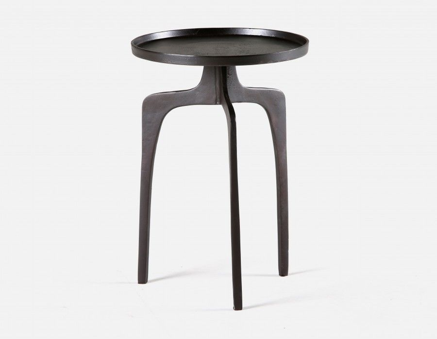 Sensational Olga Black And Silver Aluminum End Table 38Cm 15 Str Theyellowbook Wood Chair Design Ideas Theyellowbookinfo