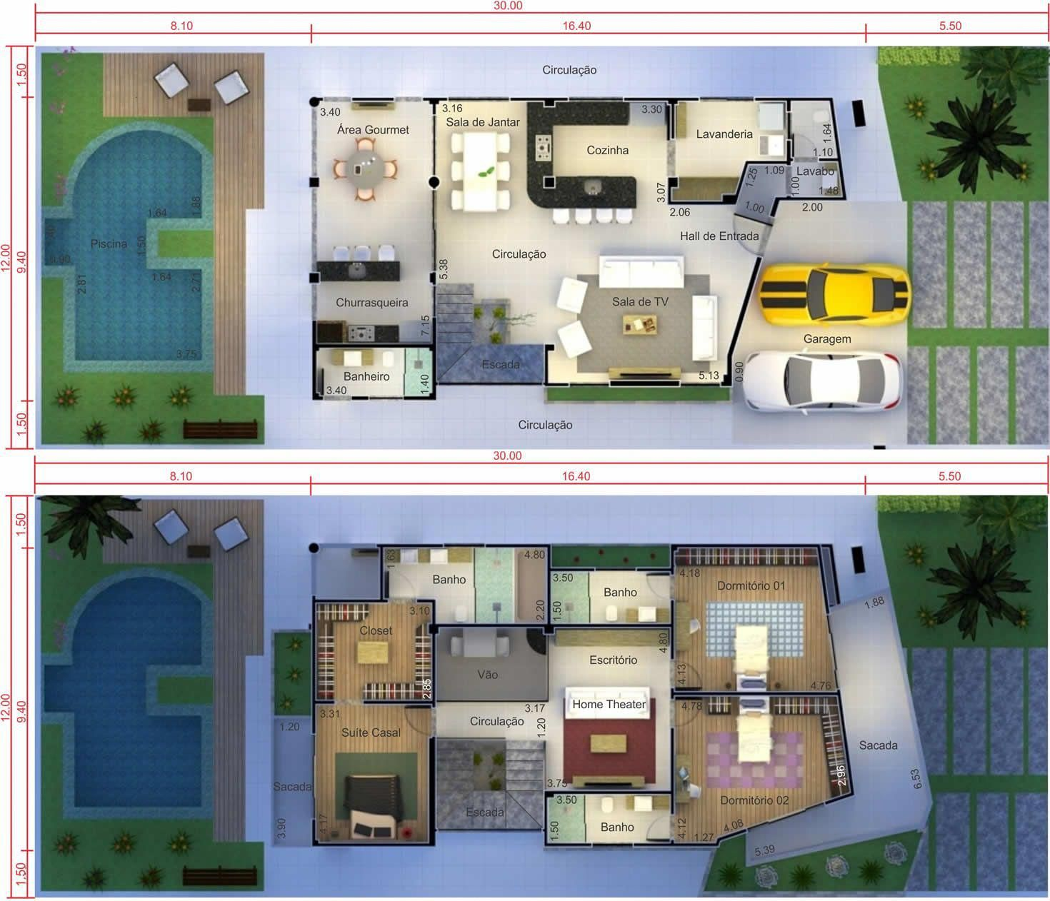 Plantas de casas para terrenos 12x30