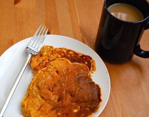 Super Duper Sweet Potato Cottage Cheese Pancakes