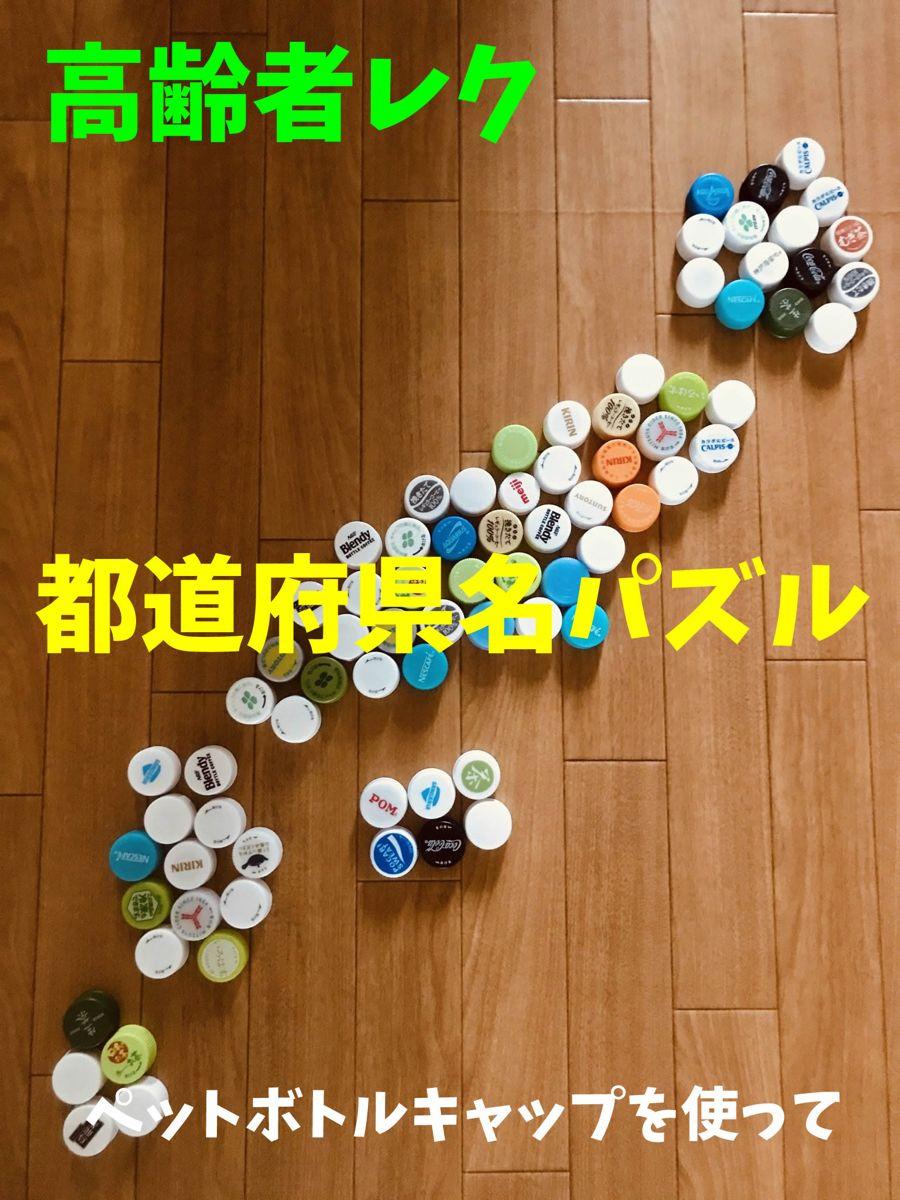 老人ホームレクリエーション ペットボトルキャップを使って 都道府県名 漢字 数字パズルゲーム ペットボトルのキャップ パズルゲーム 漢字 数字