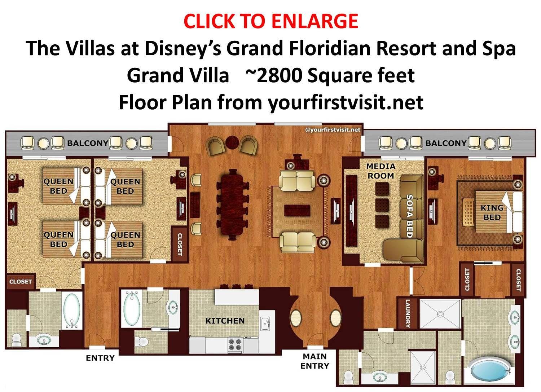 Floor Plan Grand Villa At Disneys Grand Floridian From Yourfirstvisit Net Jpg 150 Grand Floridian Disney Grand Floridian Resort Disney Grand Floridian Resort