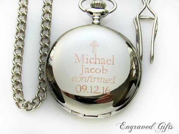 Engraveable Pocket Watch Confirmation Gift For Boys Boy Baptism Gift Engraved Pocket Watch Cust