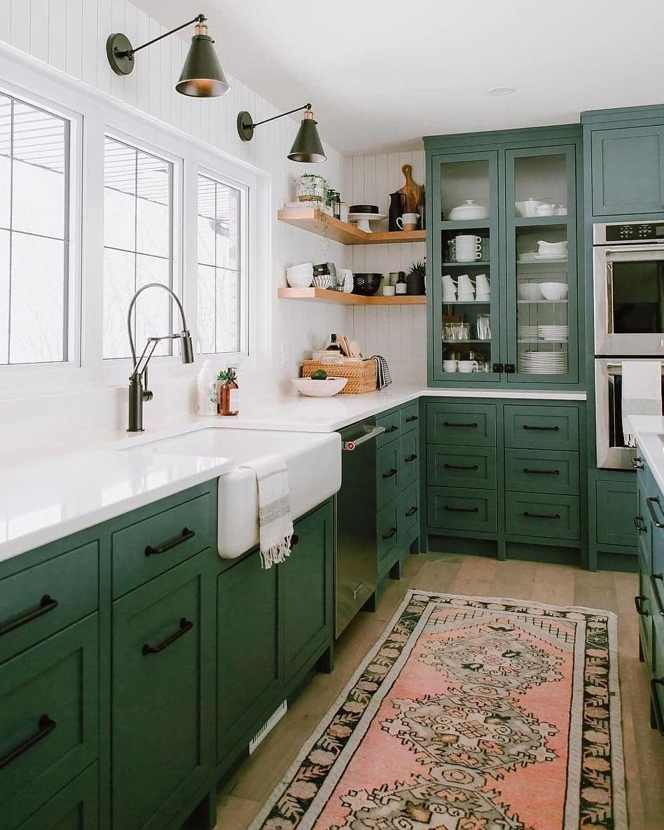 Green Cabinets Kitchendesign Kitchenideas With Images Green