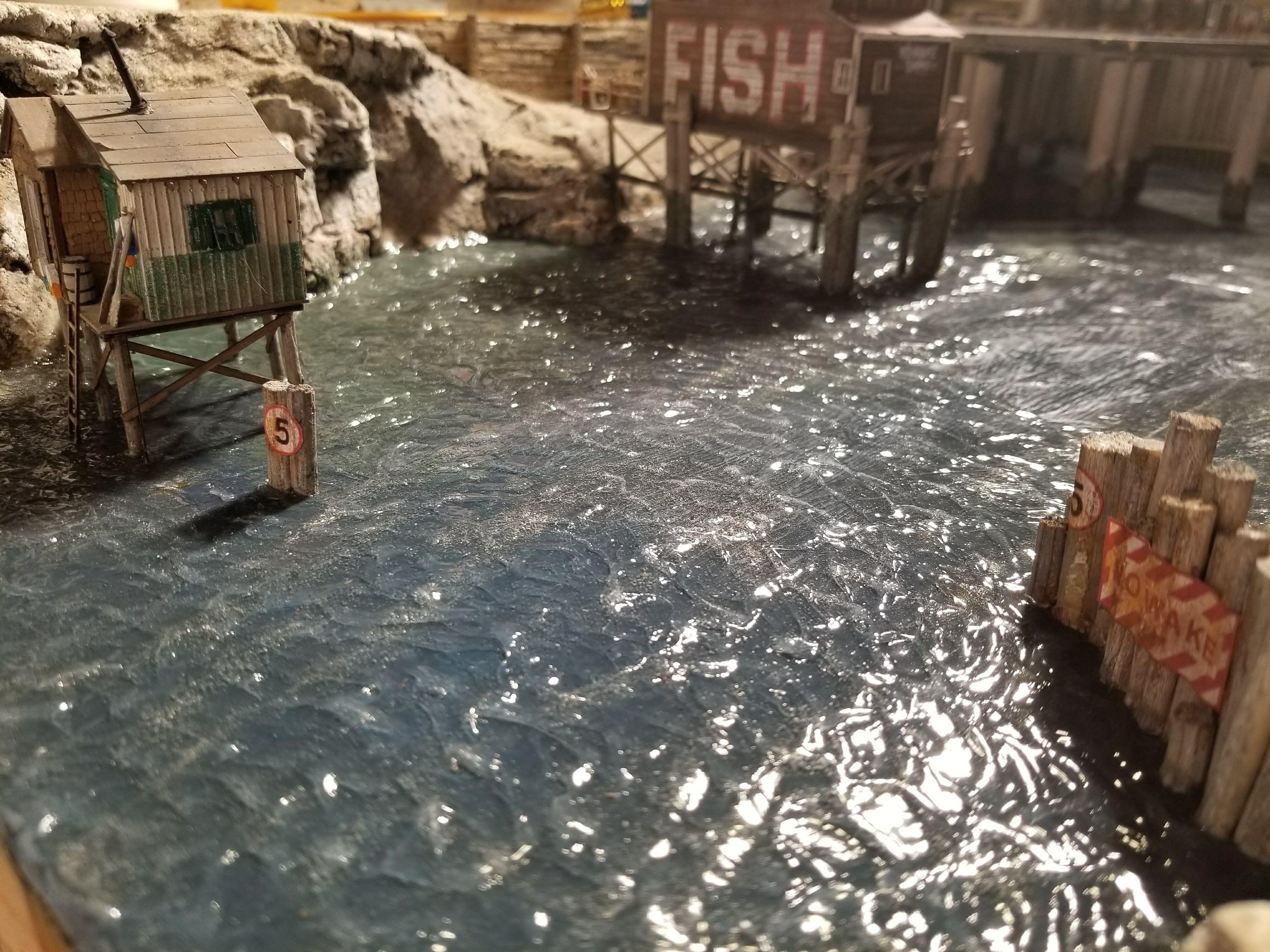 water train layout making gel scenery texture waves podge mod hoscalecustoms diorama scene create medium layouts trains read current