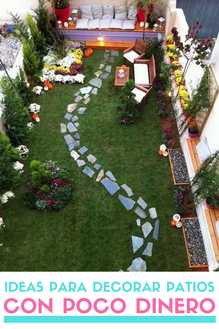Ideas Para Decorar Patios Con Poco Dinero Decoracion Low Cost Decoracion De Patio Paisajismo De Patio Jardin Con Piedras