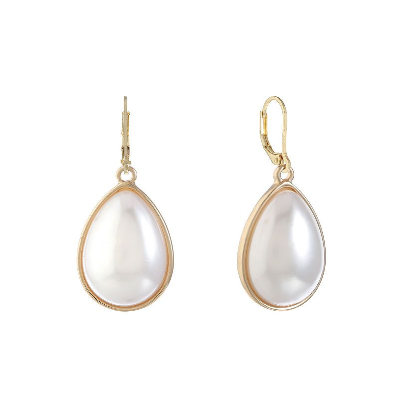 b1d9bf7e317de Monet Jewelry White SIMULATED PEARLS Drop Earrings | Products in ...