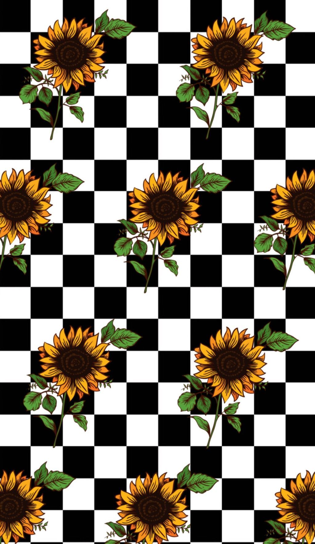 Download Checkerboard Sunflower Wallpaper Retro Wallpaper Iphone Sunflower Iphone Wallpaper Sunflower Wallpaper