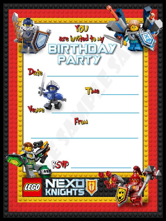 nexo knight birthday GoogleSuche Nexo knight – Knight Birthday Party Invitations