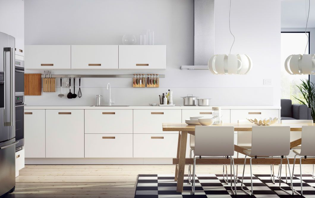 Ikea Kitchen Modern ikea kitchen - home design - affordable remodel | white leather