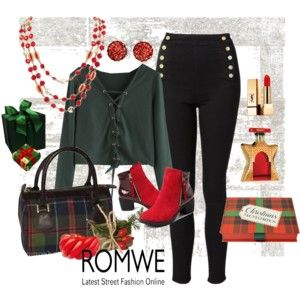 Romwe - Deep Green Lace up Crop t-shirt