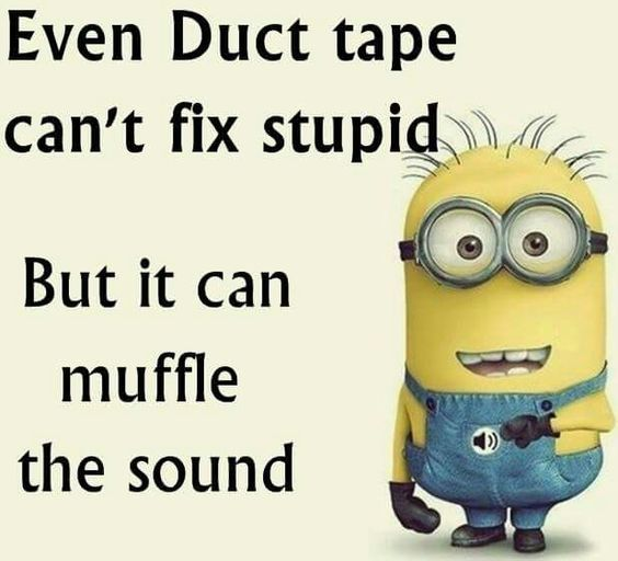 Even duct tape can't fix stupid. But it can muffle the sound