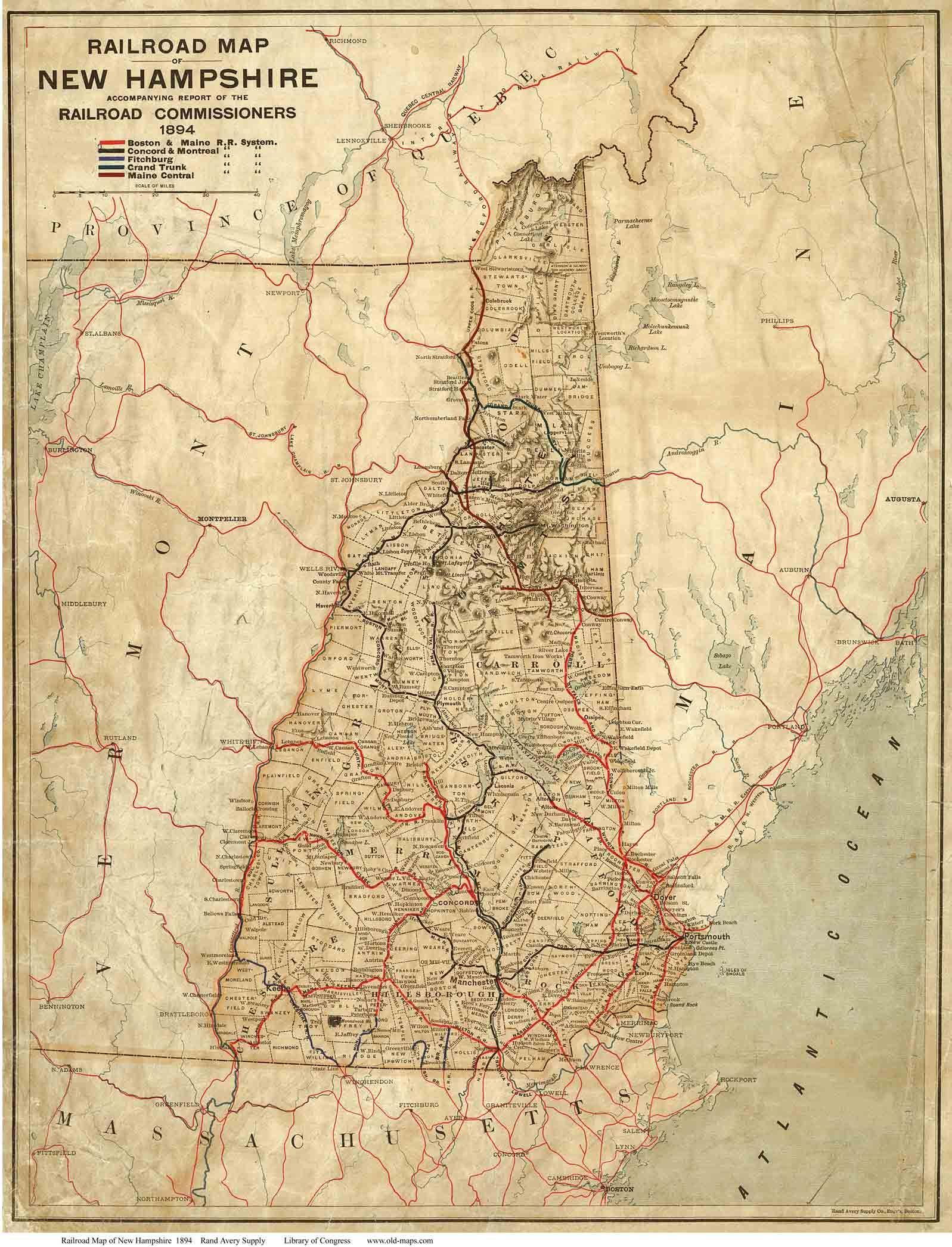 Old State Maps Of Nh