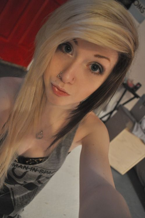 black and blonde hair tumblr oc\u0027s n n hair, blonde hair, black