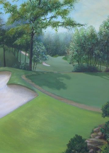 Golf Mural On Canvas Golf Murals Pinterest