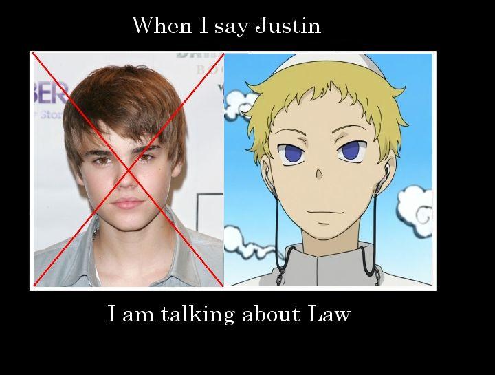 Soul Eater Justin Bieber Meme When I Say Justin I Am Talking About Law Soul Eater Justin I Said soul eater justin
