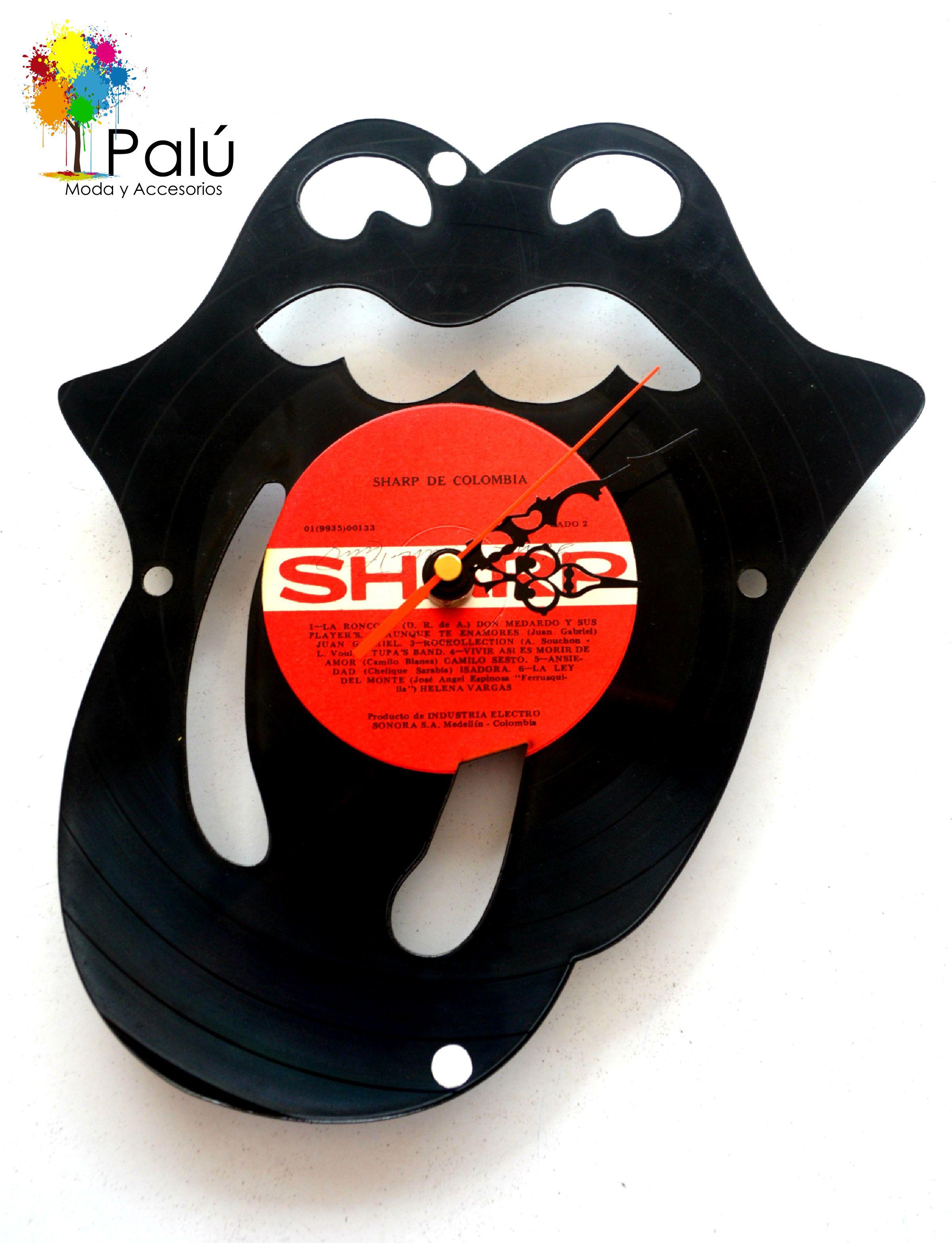 Reloj rolling stons en disco de vinilo lp puedes - Reloj vinilo pared ...