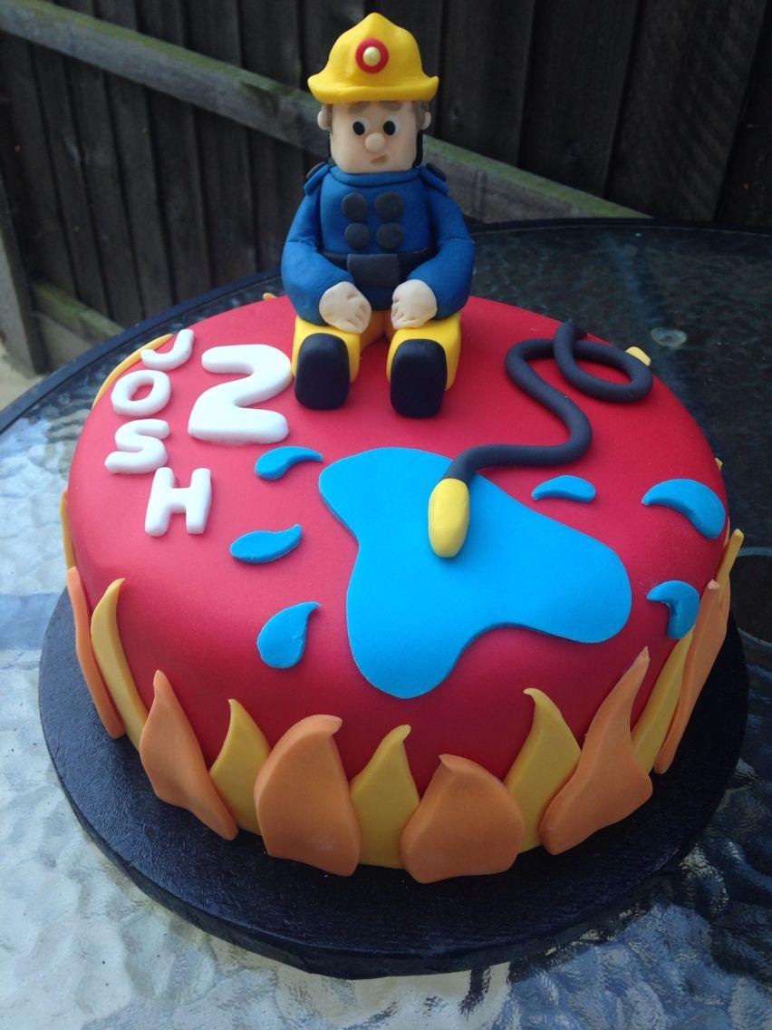 Fireman Sam Cake Feuerwehrmann Sam Kuchen Pinterest