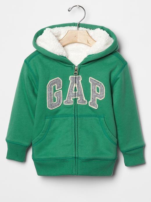 Boy Hoodie Fleece Lining Warm Cozy Logo Zip Green Pockets Cotton 2 ...