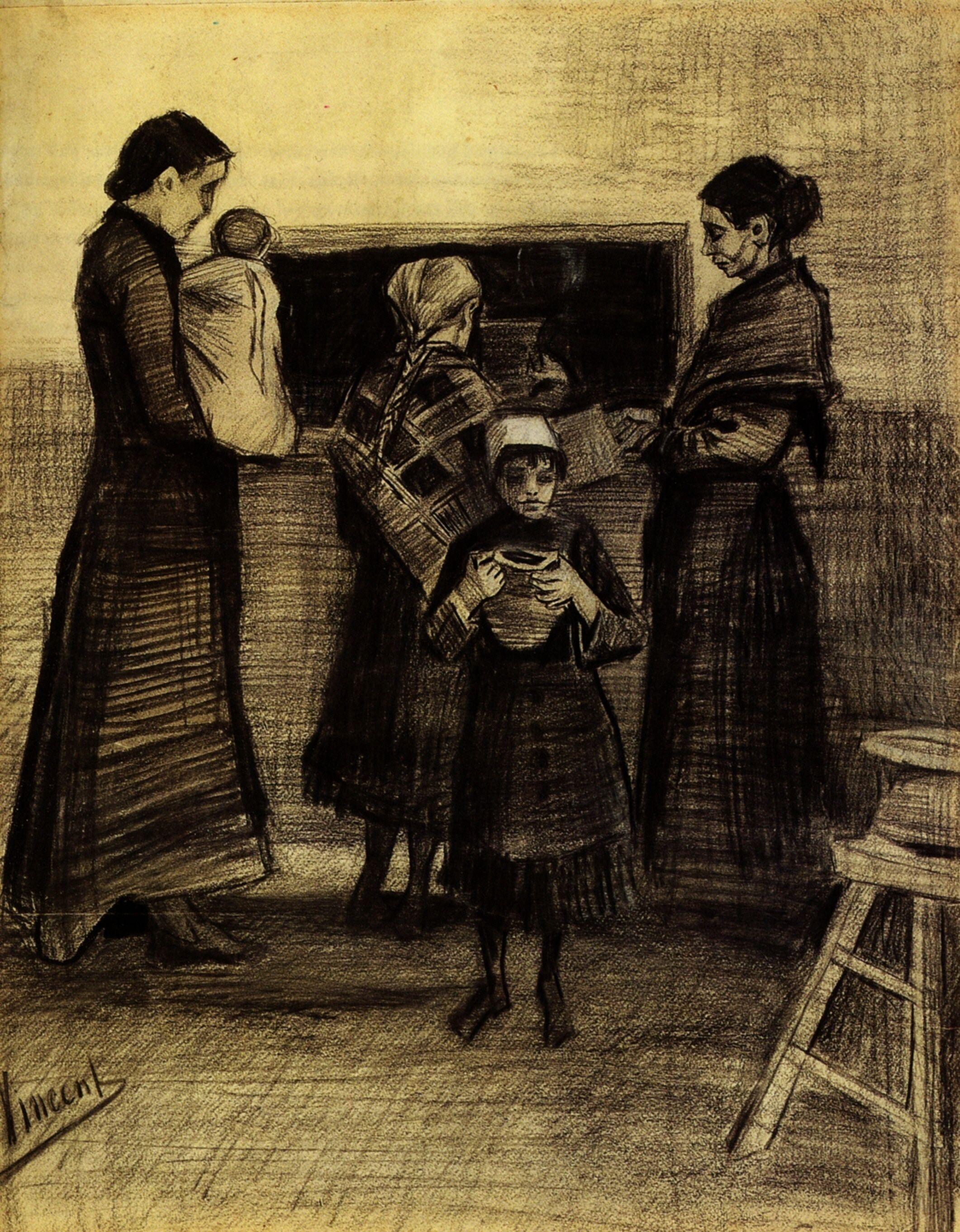 Soup Distribution in a Public Soup Kitchen by Vincent Van Gogh (1853