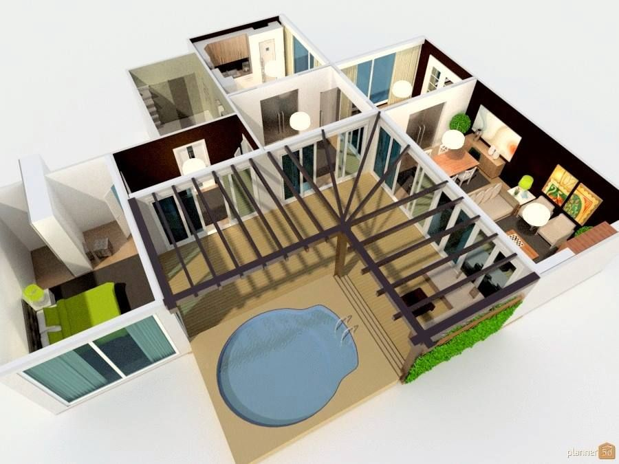 Modern House Floorplan Made With Planner 5d 105m 1130 2ft Design Your Dream House Modern House Design