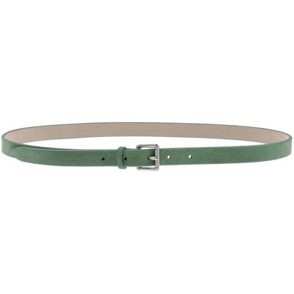Pignoloni Belt ($43) ❤ liked on Polyvore featuring accessories, belts, green, genuine leather belt, green belt, 100 leather belt, real leather belt and leather buckle belt