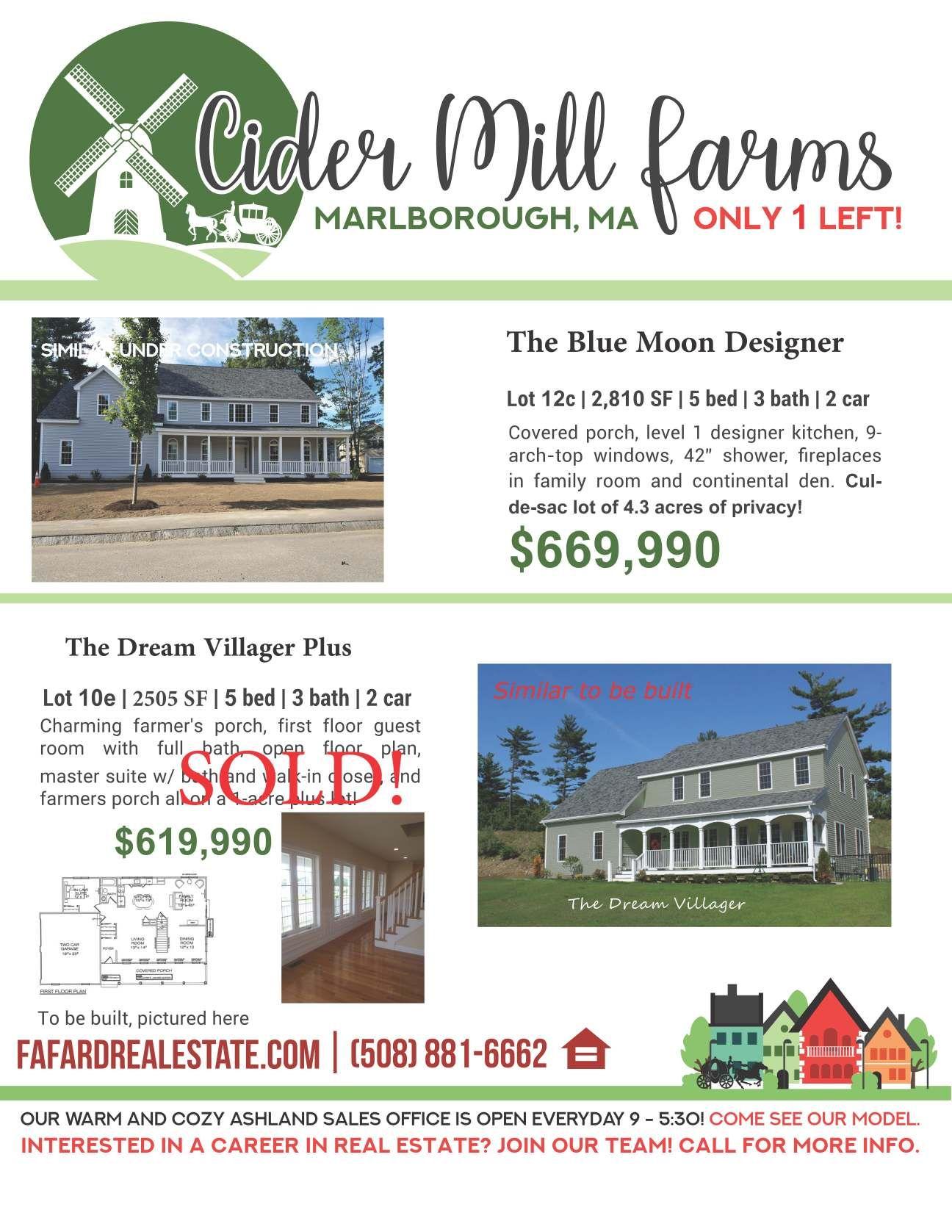 Last New Home In Cider Mill Farms Marlborough Ma 669 990 Near I 290 495 New Homes Mill Farm Real Estate