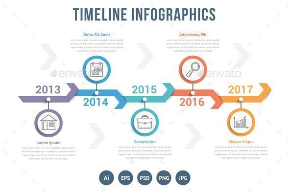 Timeline timeline infographics template with arrows workflow or timeline timeline infographics template with arrows workflow or process diagram can be used as stepsoptions archive contains vector ai cs3 f ccuart Choice Image
