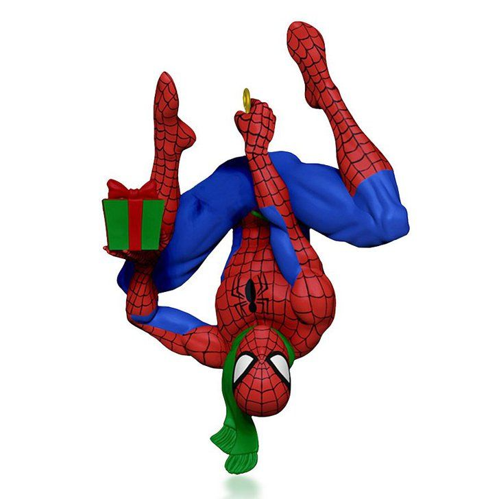 Pin for Later: You'll Have the Coolest Tree on the Block With These Pop Culture Ornaments  Marvel's Spider-Man Ornament ($15)