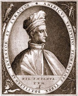 Amerigo Vespucci (1451-1512) was an Italian explorer/geographer who sailed to the New World in 1499 and was the first to state that the land discovered by Columbus was not India, but a new continent.  Because of this, cartographers named the New World in his honor.