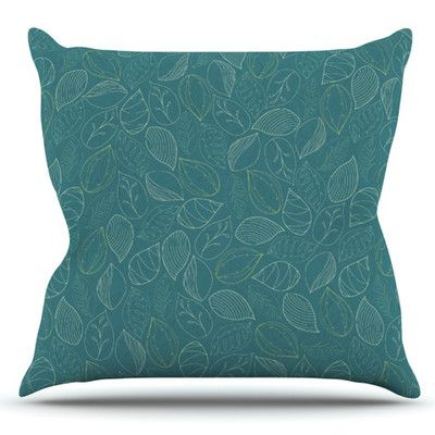 East Urban Home Autumn Leaves by Emma Frances Outdoor Throw Pillow