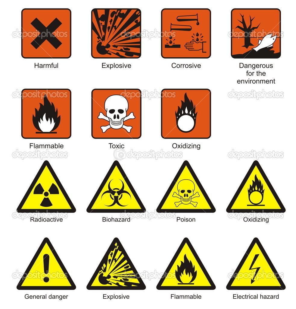 Science Laboratory Safety Signs — Stock Vector © icefront