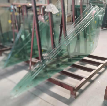 Wholesale Price 12mm Thick Internal Doors Safety Tempered Glass Laminated Glass Tempered Glass Door Grey Laminate