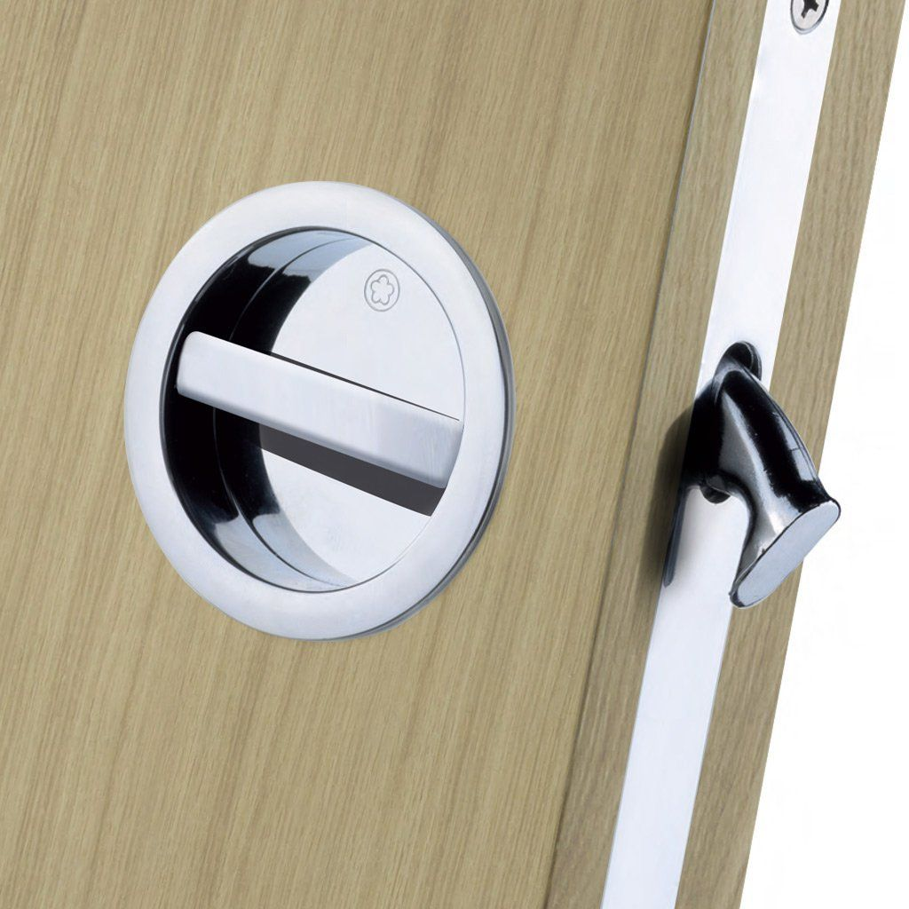 European manital art55b sliding door bathroom lock set 2