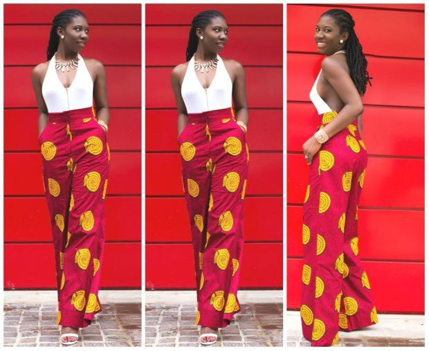 45 Ways African Women Are Rocking Ankara Palazzo Trousers With Tops