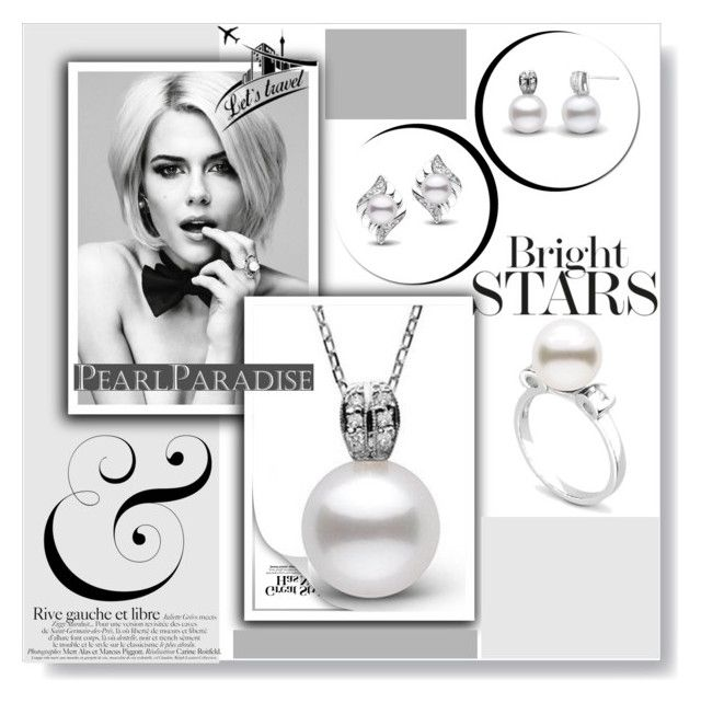 """""""Holidays with PEARL PARADISE"""" by samirhabul ❤ liked on Polyvore featuring pearljewelry and pearlparadise"""