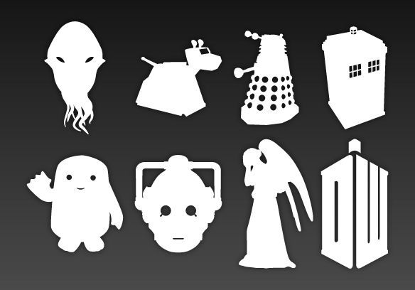 doctor who stencils � doctor who silhouette diy d�