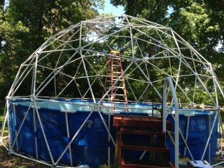 Customer Review 3v 5 8 Geodesic Dome Hubs Only Kit Geodesic Dome Greenhouse Geodesic Dome Dome Greenhouse