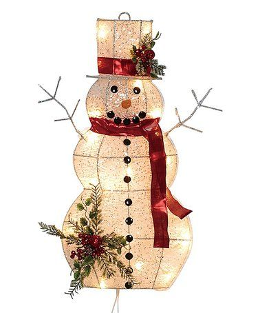 Look At This Zulilyfind Red Scarf Led Light Up Snowman Wall Decor Zulil Large Christmas Decorations Christmas Wall Decor Large Outdoor Christmas Decorations
