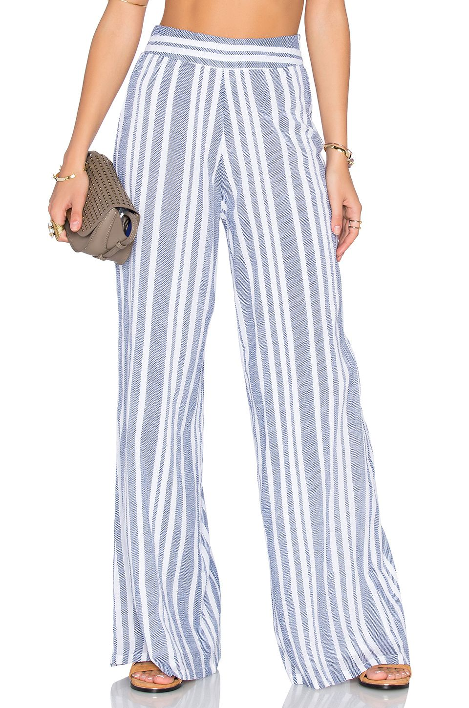 Tularosa Marley Pant In Blue Amp White Fashion Linen