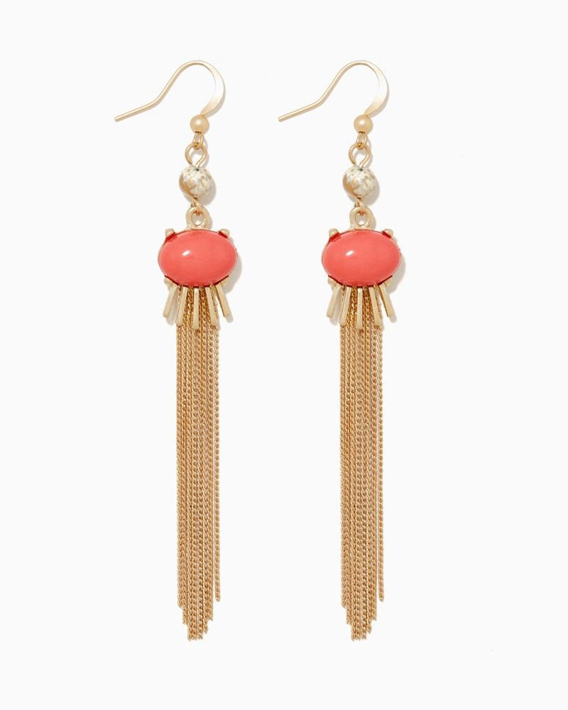 charming charlie | Esme Tassel Earrings #charmingcharlie | Coral ...