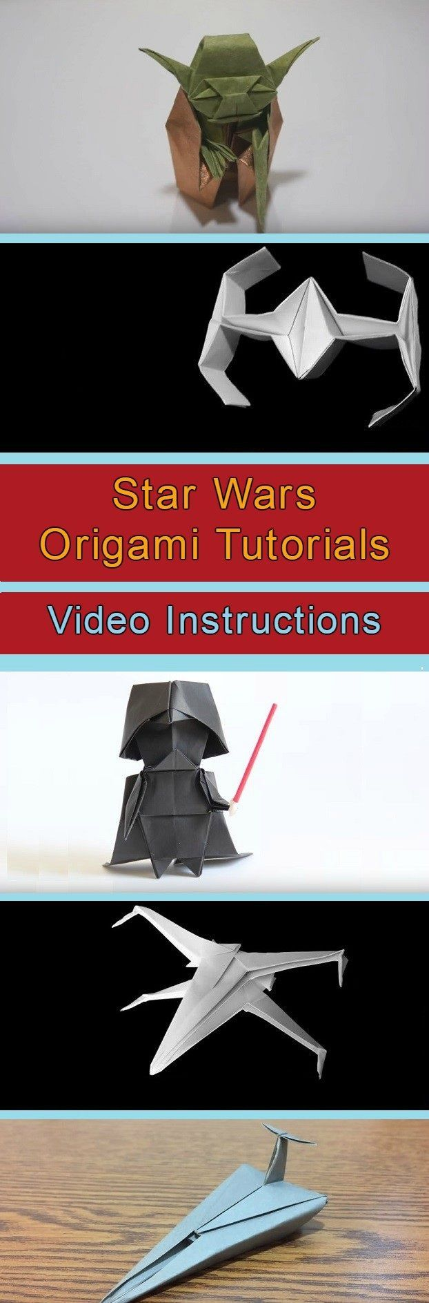 Star Wars Origami Tutorials Video Instructions - right up my son's alley!